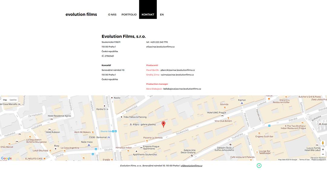 evolutionfilms-cz-kontakt